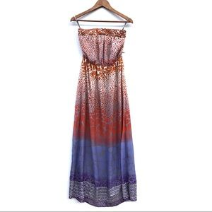 Charlie Jade Strapless Boho Maxi Dress Size XS